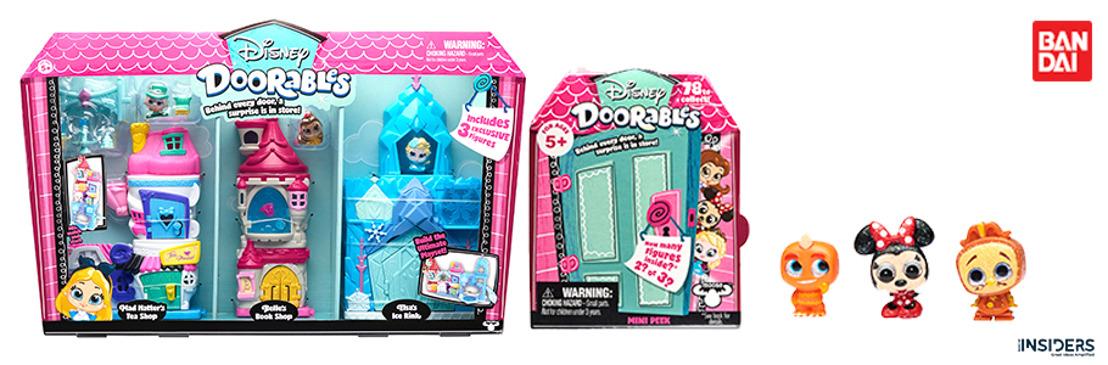 Los personajes de Disney cobran vida en su versión más adorable con `Doorables de Bandai´