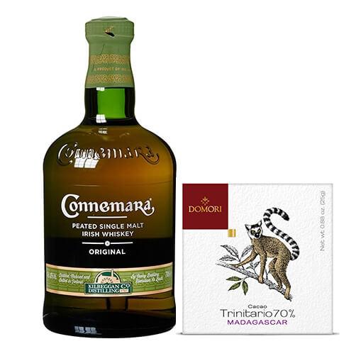 "Cioccolato fondente cacao Trinitario Madagascar"" & Irish Whiskey Single Malt Peated ""Connemara"" – Cooley"