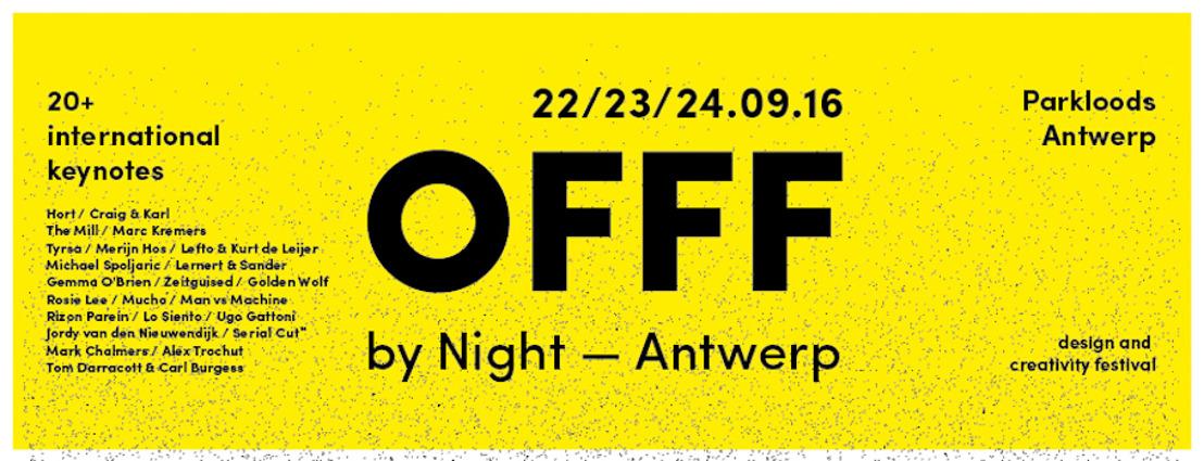 Primeur! OFFF komt in september naar Antwerpen