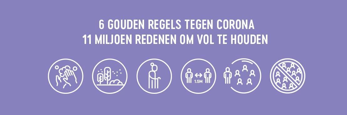 Overheidscampagne '11miljoenredenen.be' toont drijfveren van Belgen om zes gouden regels tegen corona te blijven volhouden