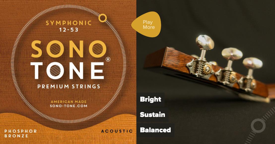 SonoTone Introduces Symphonic Series Premium Acoustic Guitar Strings
