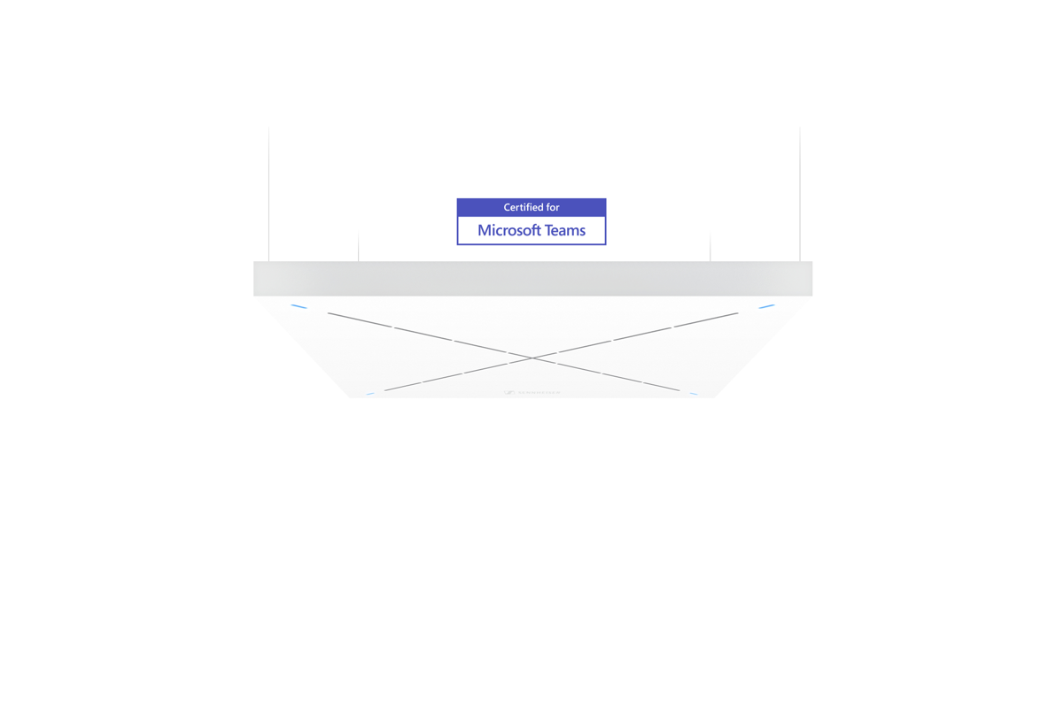 TeamConnect Ceiling 2 is compatible with all leading video collaboration platforms. Via its open protocol, TCC2 can be flexibly integrated into any other ecosystem already in place