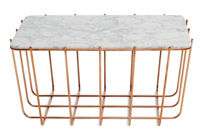 Blue Dot - Copper marble table