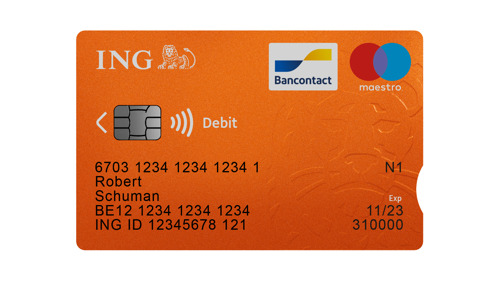 Exclusive: ING is the first bank in Belgium to introduce a payment card with a notch for customers with a visual impairment