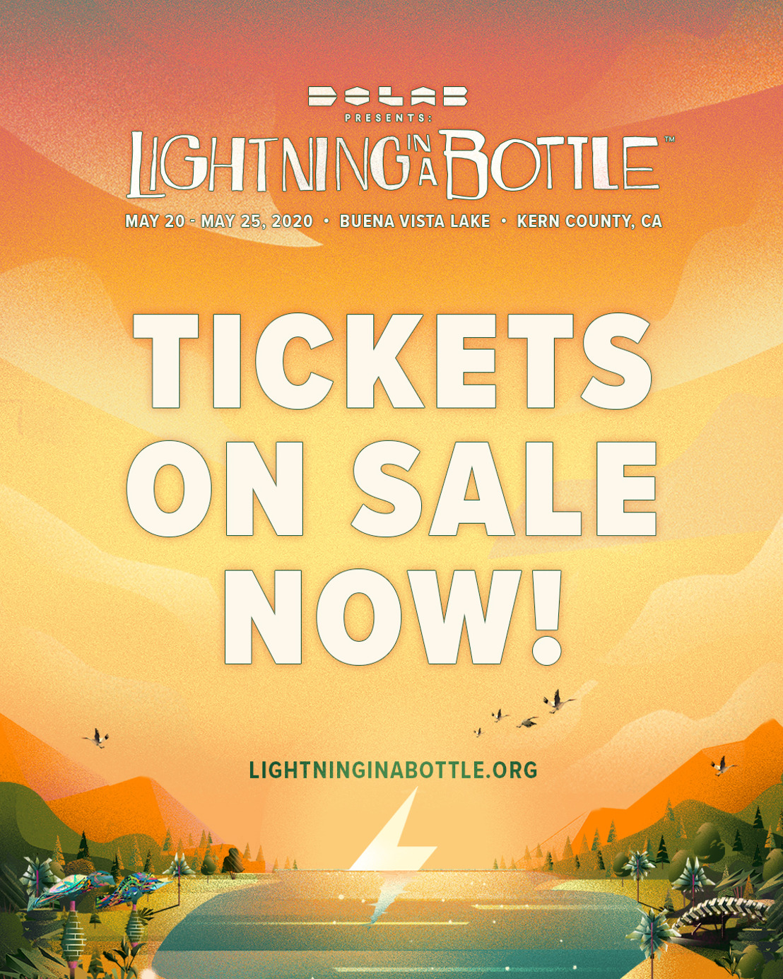 Lightning in a Bottle Announces On-Sale and Its Return to Memorial Day Weekend for 2020 Festival