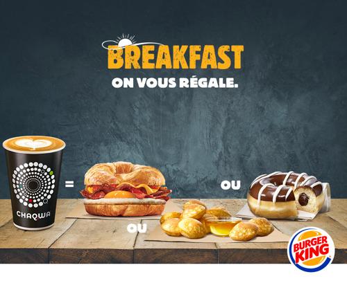 Le petit déjeuner offert par BURGER KING®
