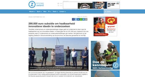 Omroep Zeeland noemt Zeeuwsche Zoute in artikel over subsidie van Zeeland in Stroomversnelling