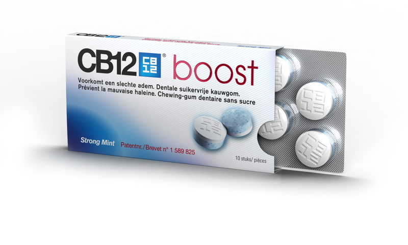 CB12 Boost Strong Mint Kauwgom (10st) -- € 4,99