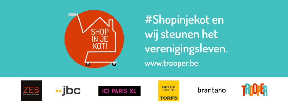 Persbericht: JBC, Torfs, Ici Paris XL, ZEB & Brantano slaan met #Shopinjekot de handen in elkaar voor het verenigingsleven