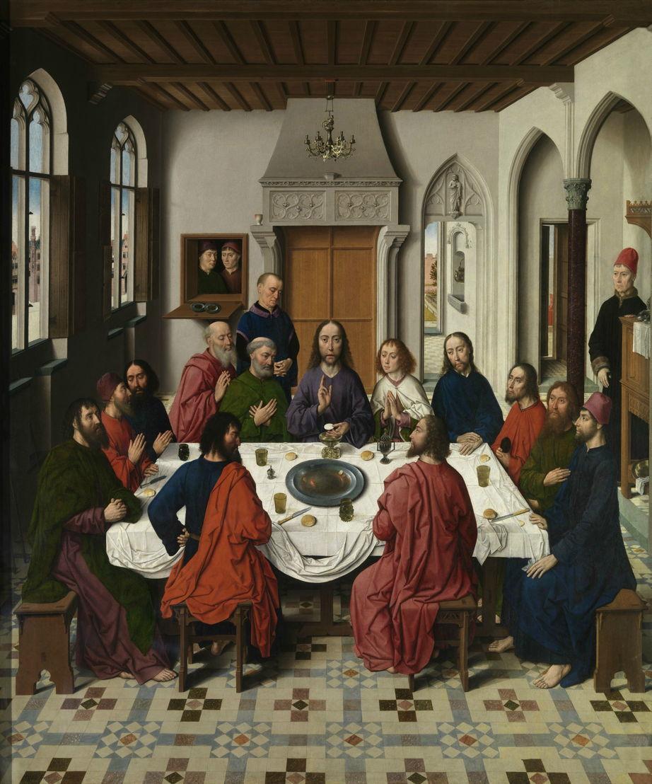 Dieric Bouts, Het Laatste Avondmaal, 1464-1468.<br/><br/>(c) www.lukasweb.be - Art in Flanders, foto (c) Hugo Maertens