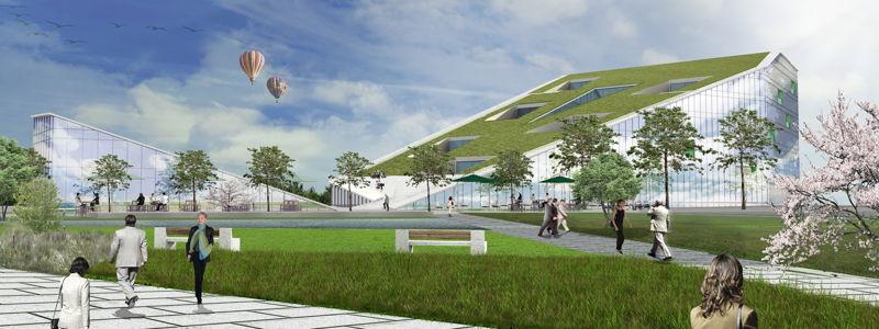 Nieuwe gebouw Cordacampus Hasselt.