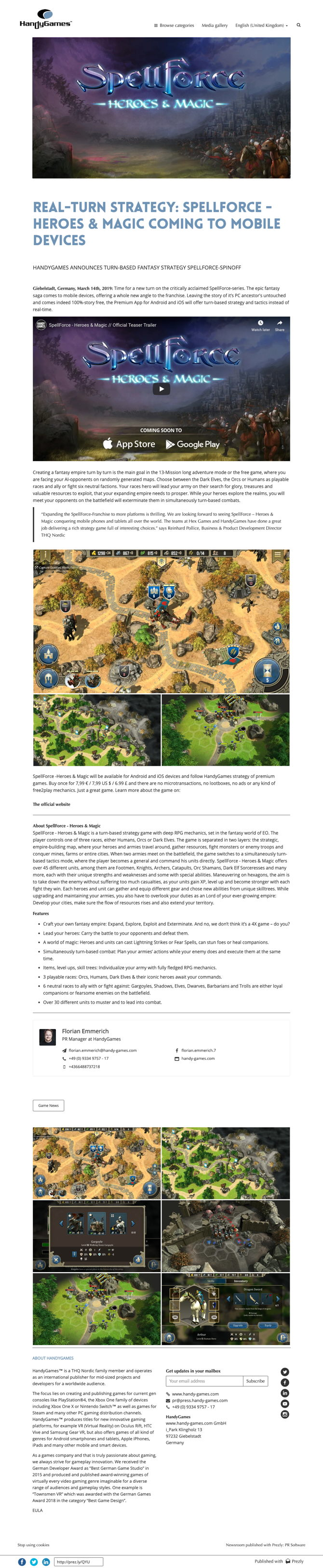 Real-turn strategy: SpellForce - Heroes & Magic coming to mobile devices
