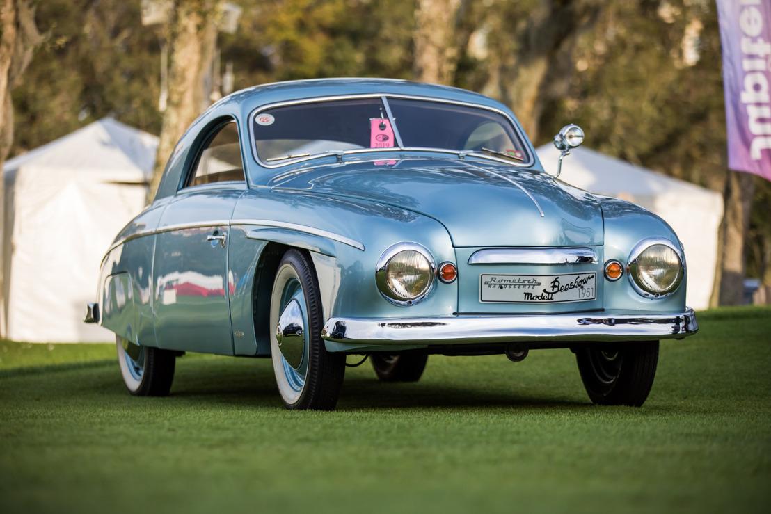 El auto 1951 Volkswagen Roemtsch Beeskow obtiene el máximo honor para carrocerías personalizadas en el Amelia Island Concours d'Elegance