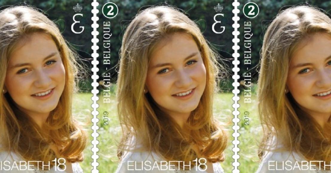 Een officiële postzegel voor de jarige Prinses Elisabeth