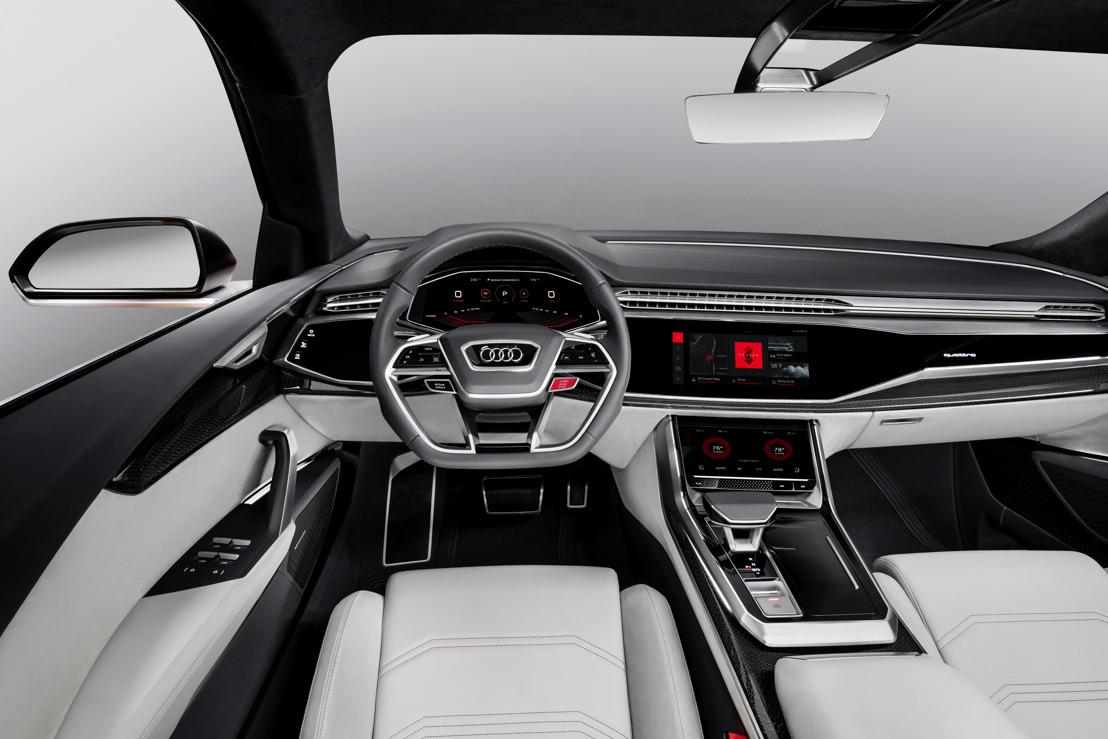 Audi toont volledig geïntegreerd Android-besturingssysteem in Audi Q8 sport concept