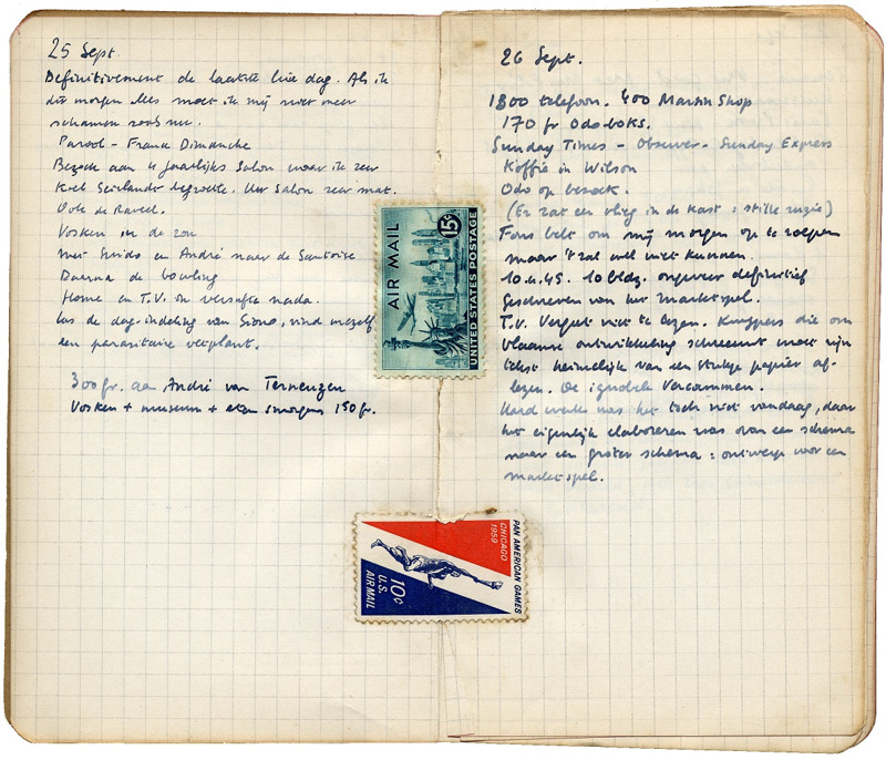Dagboek van Hugo Claus (september 1960)