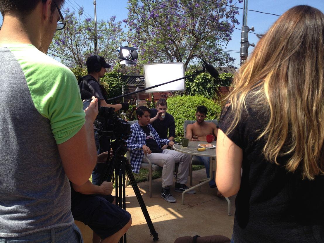 Behind the scenes prep.