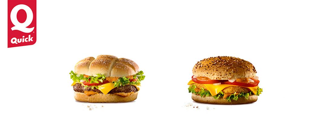 Deux experts du goût, Quick et Devos Lemmens®, vous présentent deux délicieux burgers !