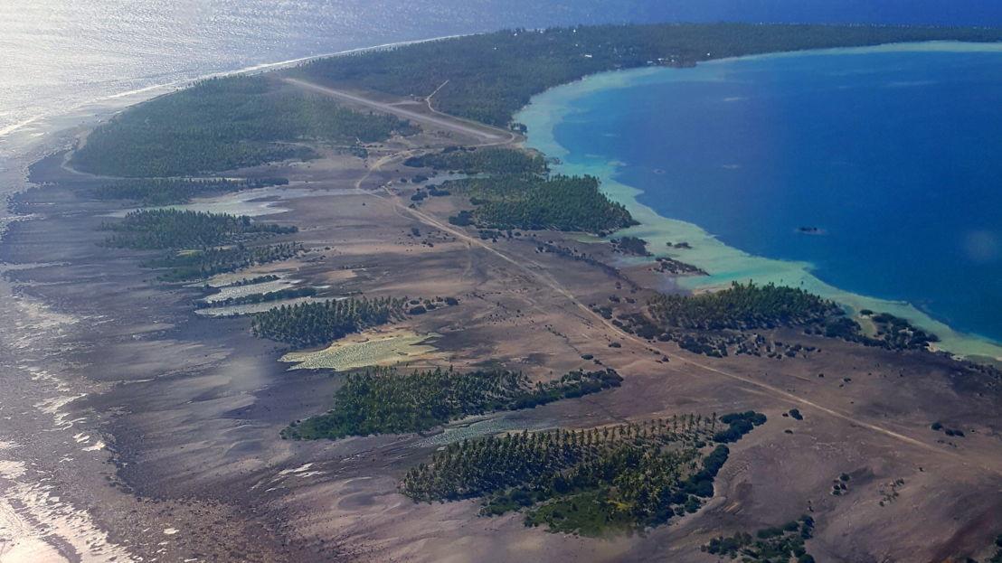 Aerial of Fakahina Atoll. Image: ANU