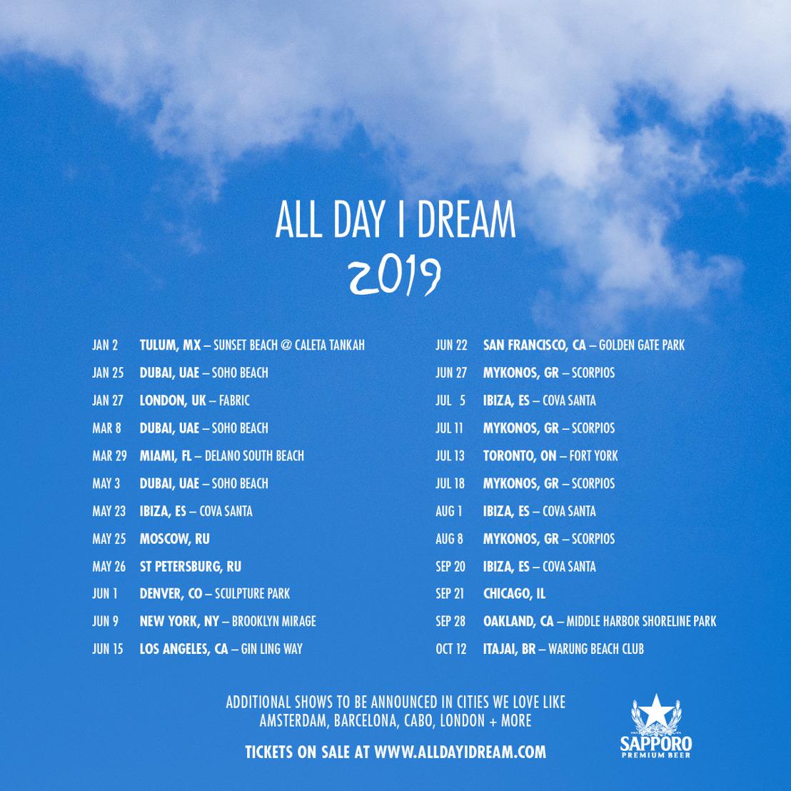 All Day I Dream Announces 2019 World Tour