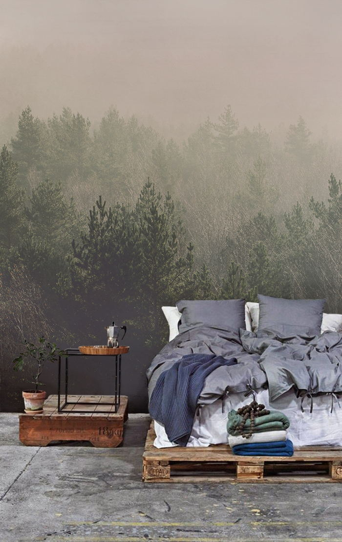 Misty Forest Wallpaper Mural