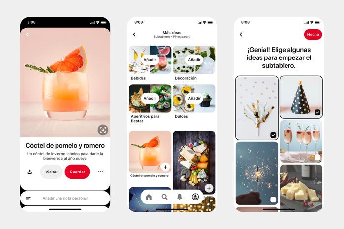 Pinterest presenta nuevas funciones para sus tableros que permitirán hacer realidad los planes para el hogar, el bienestar y los regalos