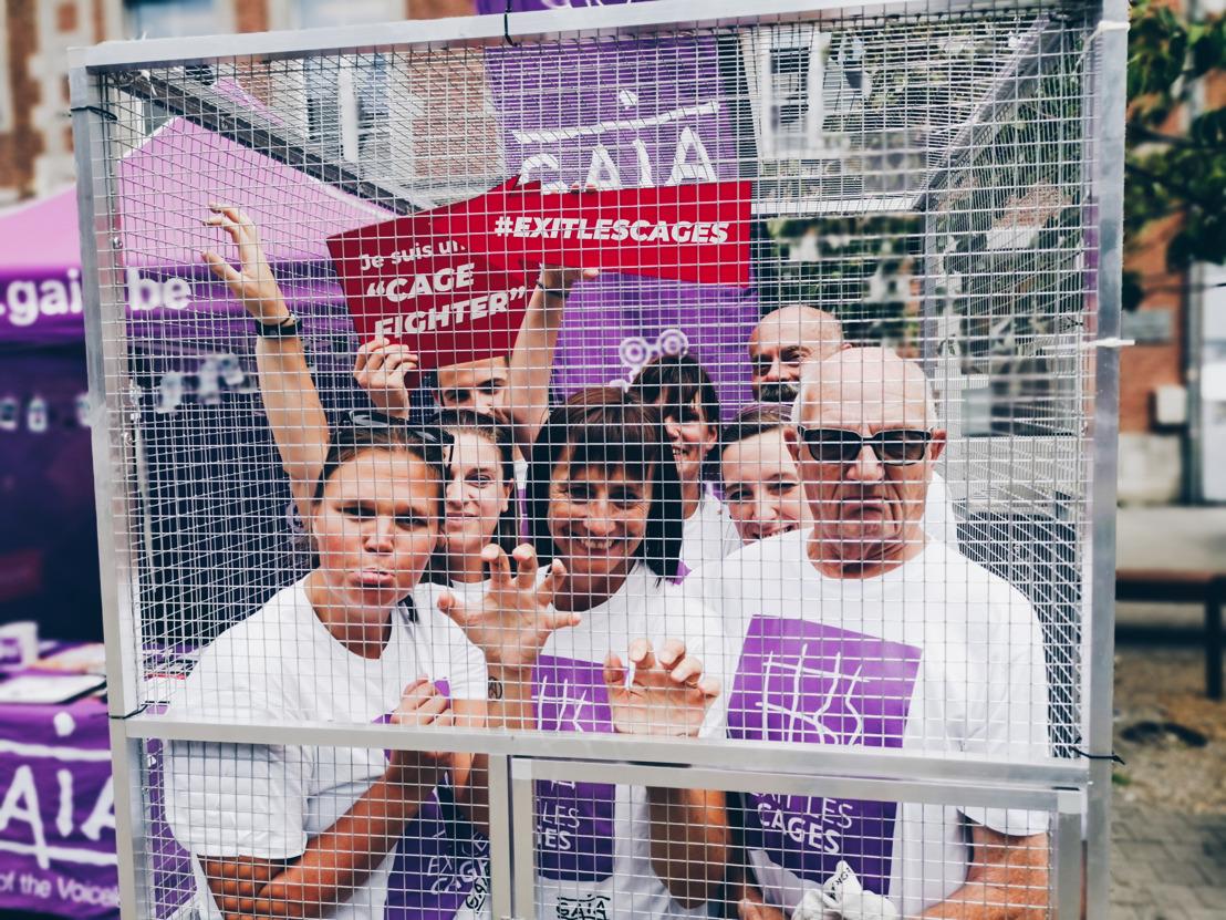 Des dizaines de « Cage Fighters » s'enferment en cage à Namur