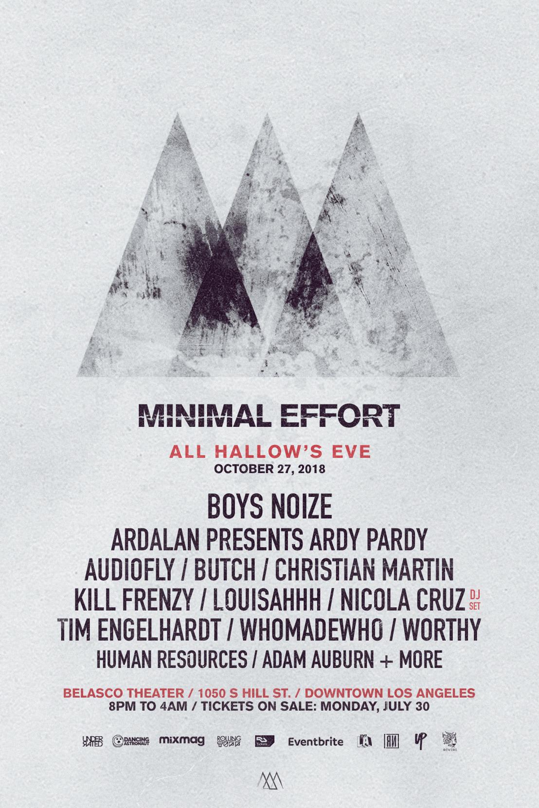 minimal effort poster
