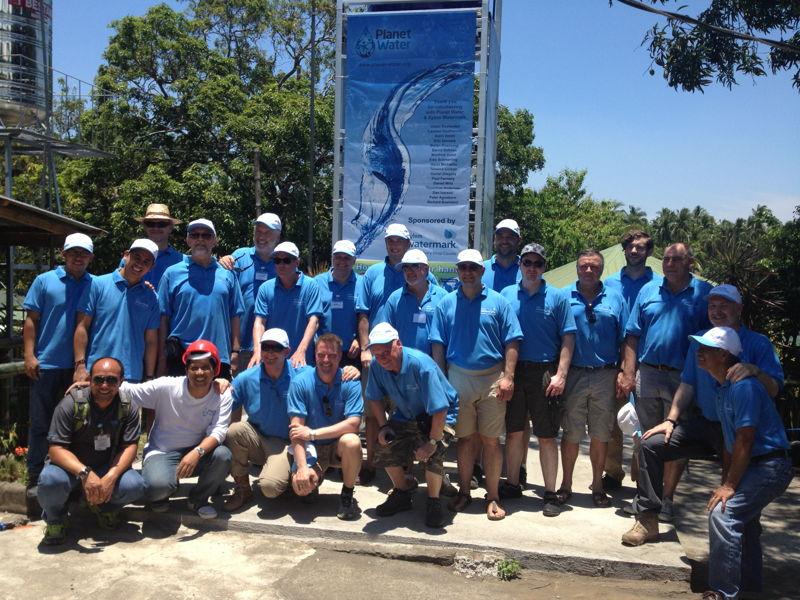 Premiers volontaires participant au programme Waterdrop
