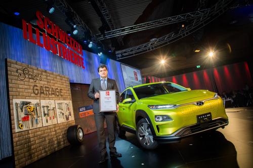 Der All-New Hyundai KONA electric gewinnt die Wahl zum «Grünsten Auto der Schweiz 2019»