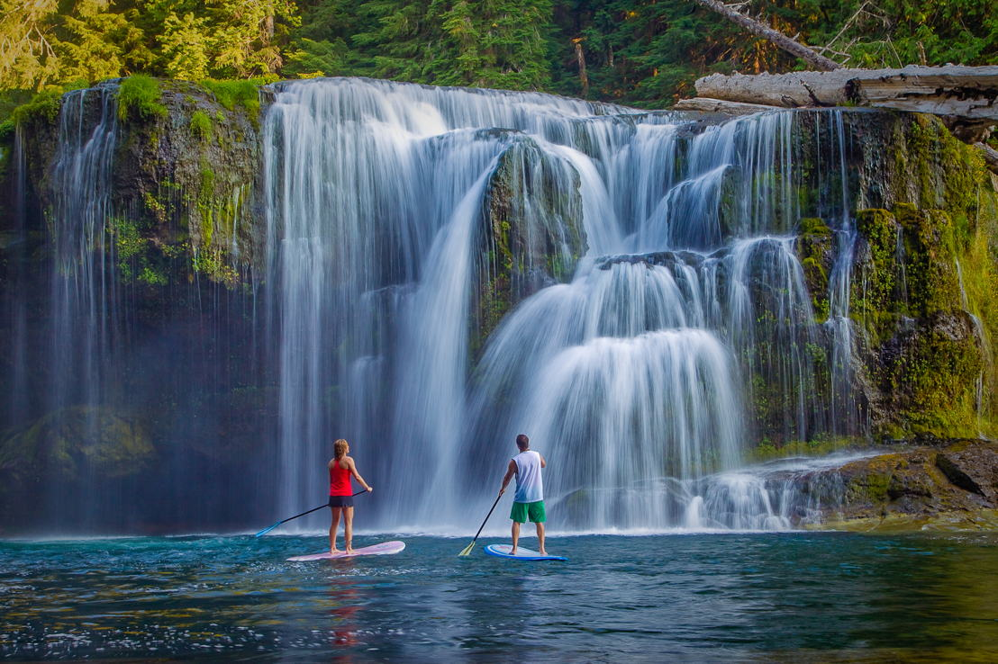 OUTFOUND - SUP'ing Under Waterfall