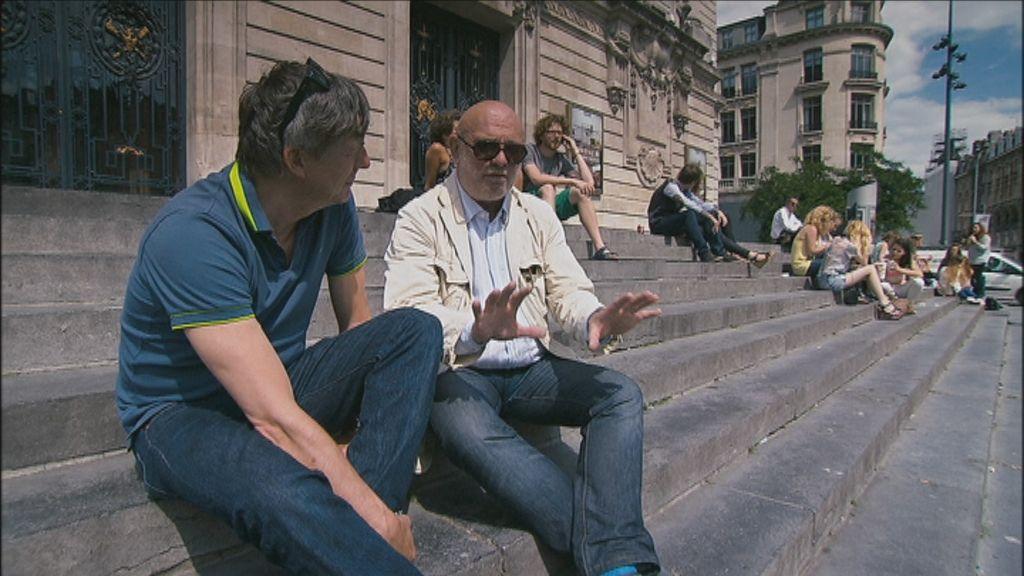 300 jaar grens - Kamagurka praat met de Frans-Vlaamse schrijver Michel Quint - (c) VRT - Pretpraters