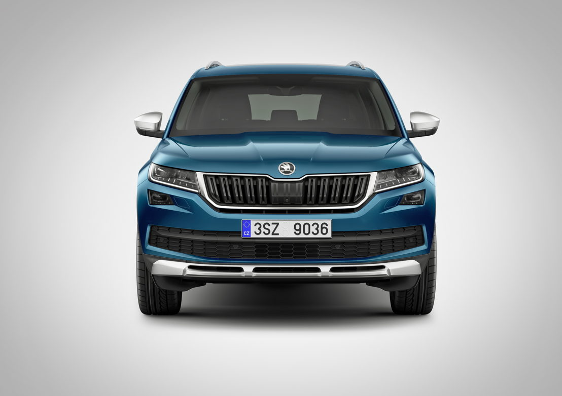 The radiator grille is framed by a silver-coloured trim. The roof rails, housing of the wing mirror, the side window trims as well as the front and rear underbody protection, which is positioned beneath the bumpers and visually split into three parts, are also silver in colour.