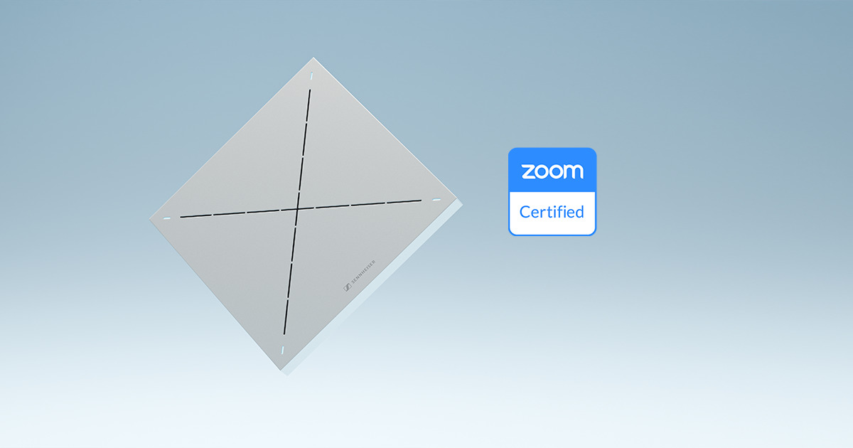 Pourquoi la certification Zoom pour le microphone de plafond de Sennheiser apportera encore plus de liberté à vos réunions (Interview)
