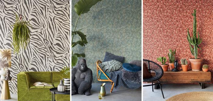 Behangpapier dat een vleugje safari geeft aan je interieur