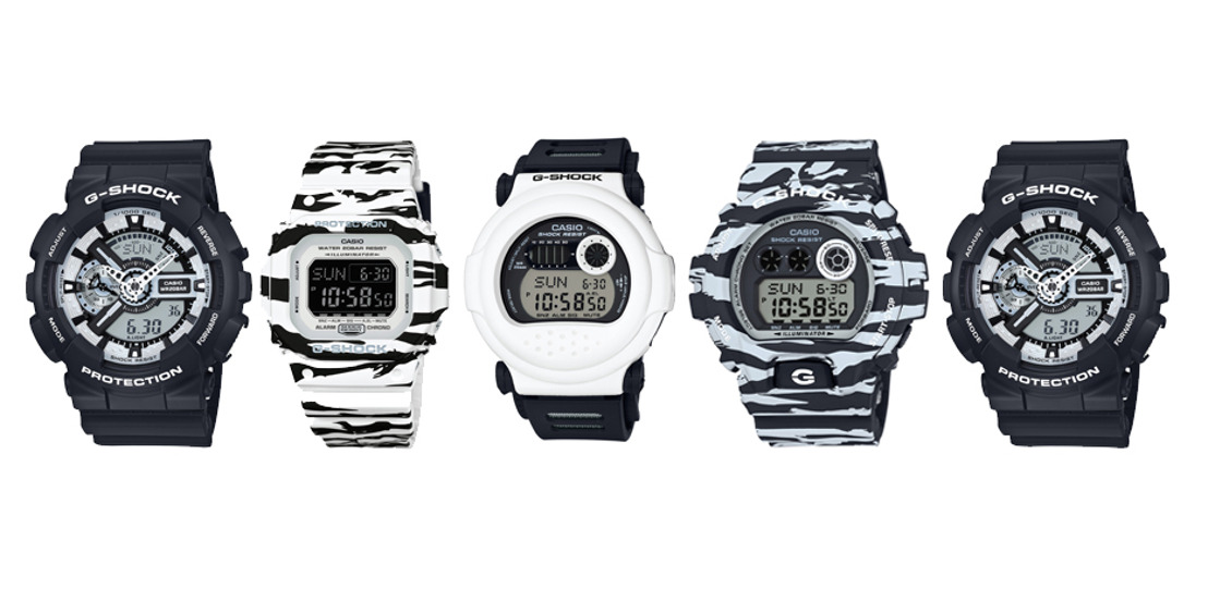 G-SHOCK BLACK AND WHITE, UNA COMBINACIÓN DE PATRONES ÚNICA