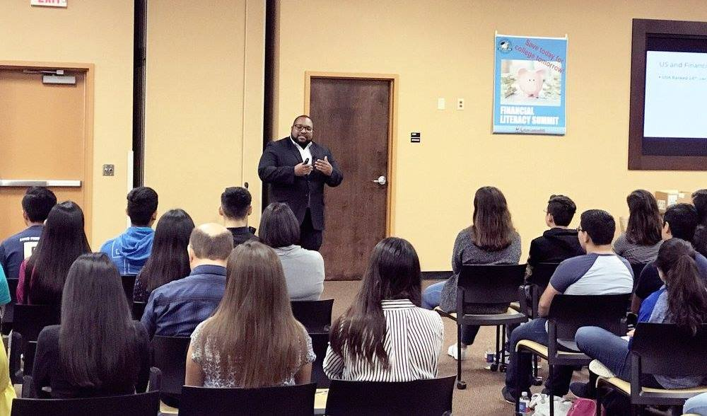 Dr. Terrance K Martin Jr delivers a presentation.