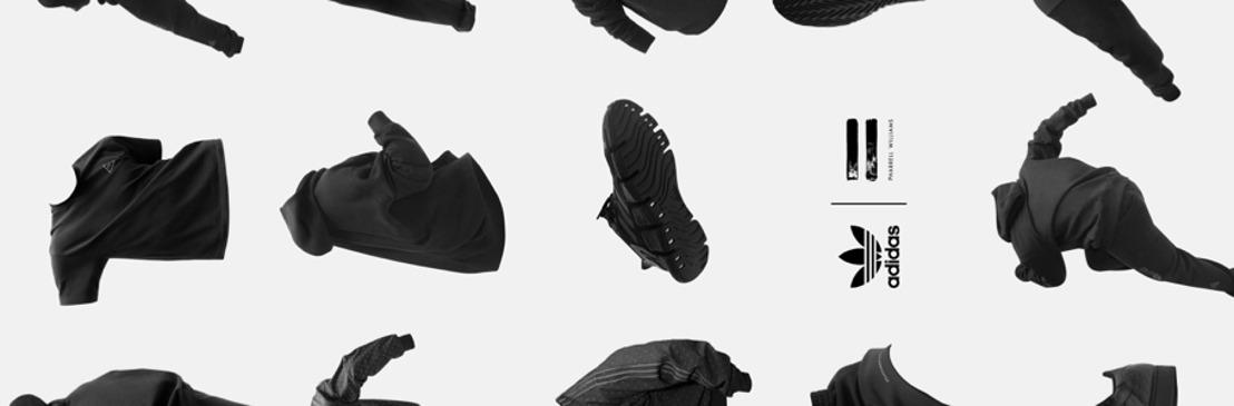 """adidas y Pharrell Williams anuncian su colección colaborativa """"Pharrell Williams Triple Black"""""""