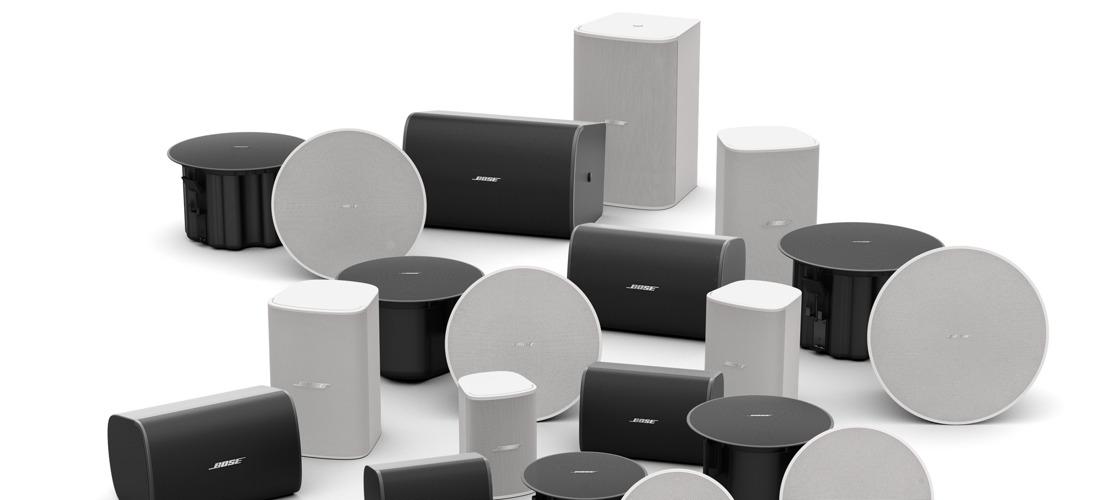 DesignMax, los nuevos altavoces para espacios comerciales de Bose Profesional
