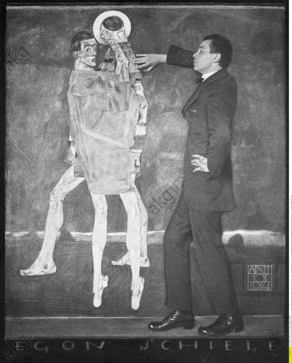 Austrian painter Egon Schiele. 1914. Photograph by Anton Josef Trcka<br/>AKG572100