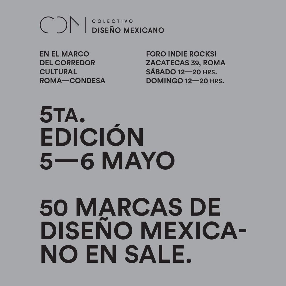 COLECTIVO DISEÑO MEXICANO, LA PLATAFORMA ORIENTADA AL IMPULSO DEL TALENTO NACIONAL, CELEBRA LA 5ta EDICIÓN DE SU EXITOSA POP-UP STORE