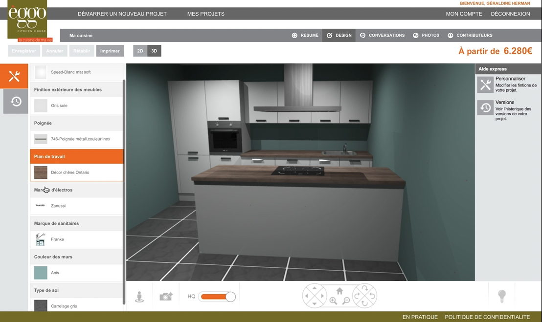 Interactieve keukenplanner ©èggo