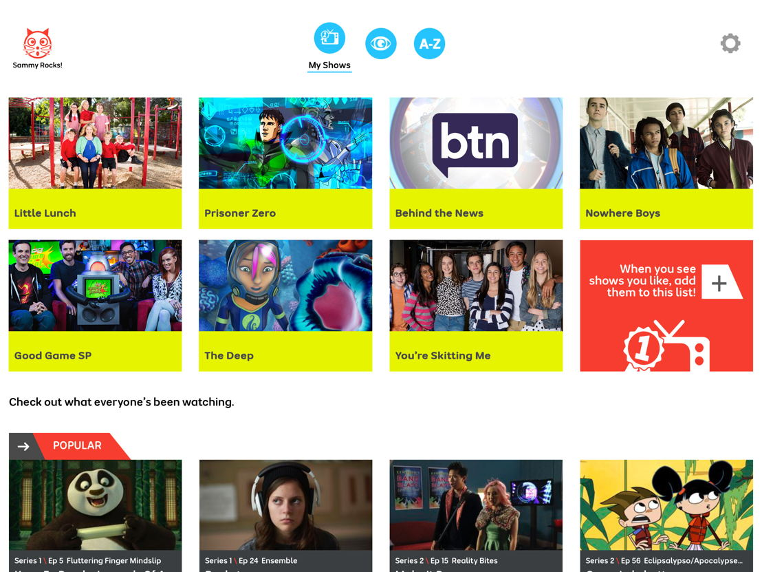 Create a playlist of your favourite programs - ABC ME app