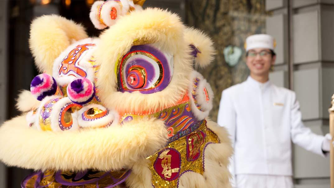 Nouvel An chinois lion dance