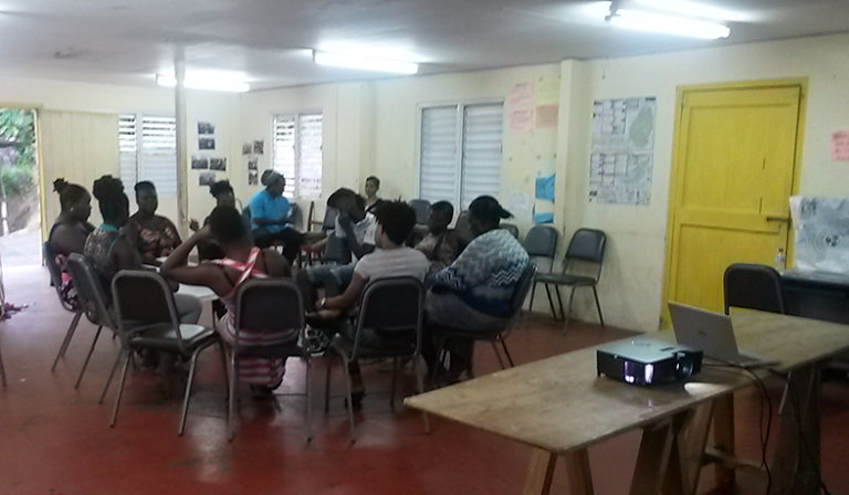 Community members attend training session.