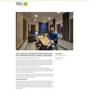 GIMLET MEDIA SETS STANDARD FOR PODCAST PRODUCTION WITH GROUNDBREAKING WSDG-DESIGNED STUDIO COMPLEX