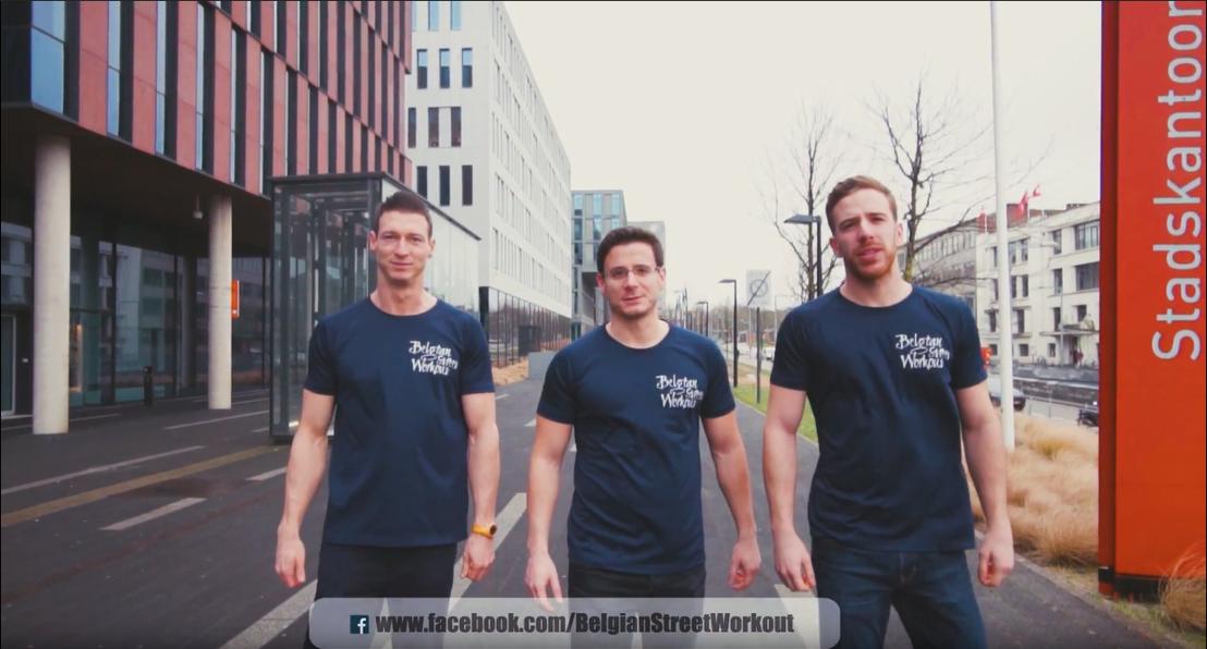 Team BAR-CODE (vlnr rechts: Sebstiaan François, Anthony Deib en Brecht Coninckx)