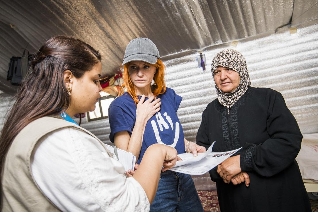 Axelle Red rencontre des réfugiés syriens en Jordanie