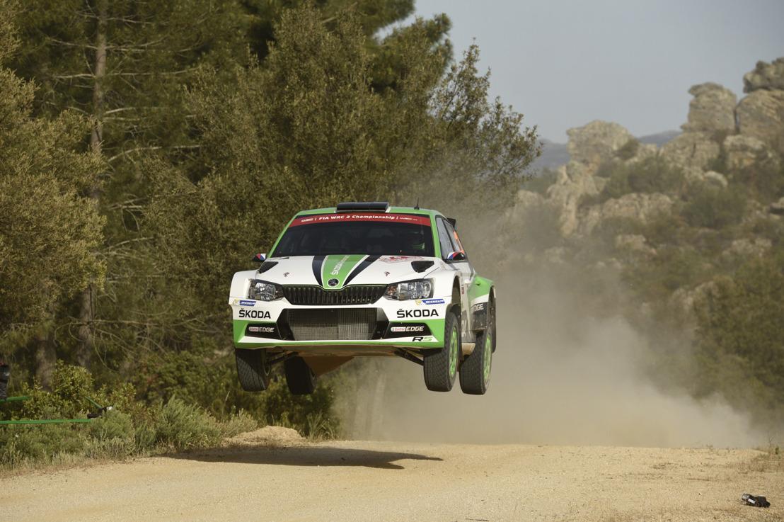 Rally Italia Sardegna: Kopecký/Dresler increased WRC 2 lead moving into ninth overall with ŠKODA FABIA R5