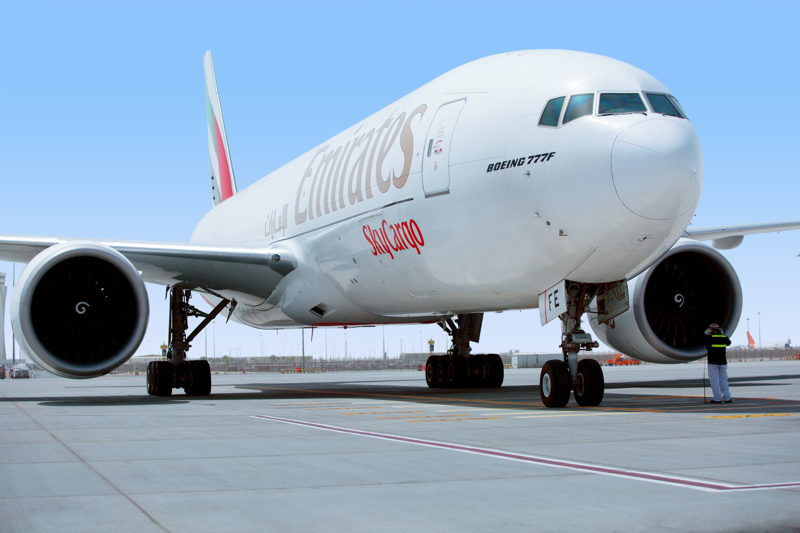 إحدى طائرات الإمارات للشحن الجوي.